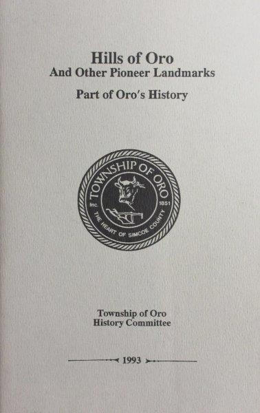 "Front Cover of ""Hills of Oro"""
