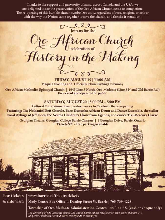Oro African Church Reopening Invation