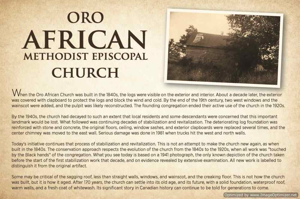 Oro African Church Presentation Sign