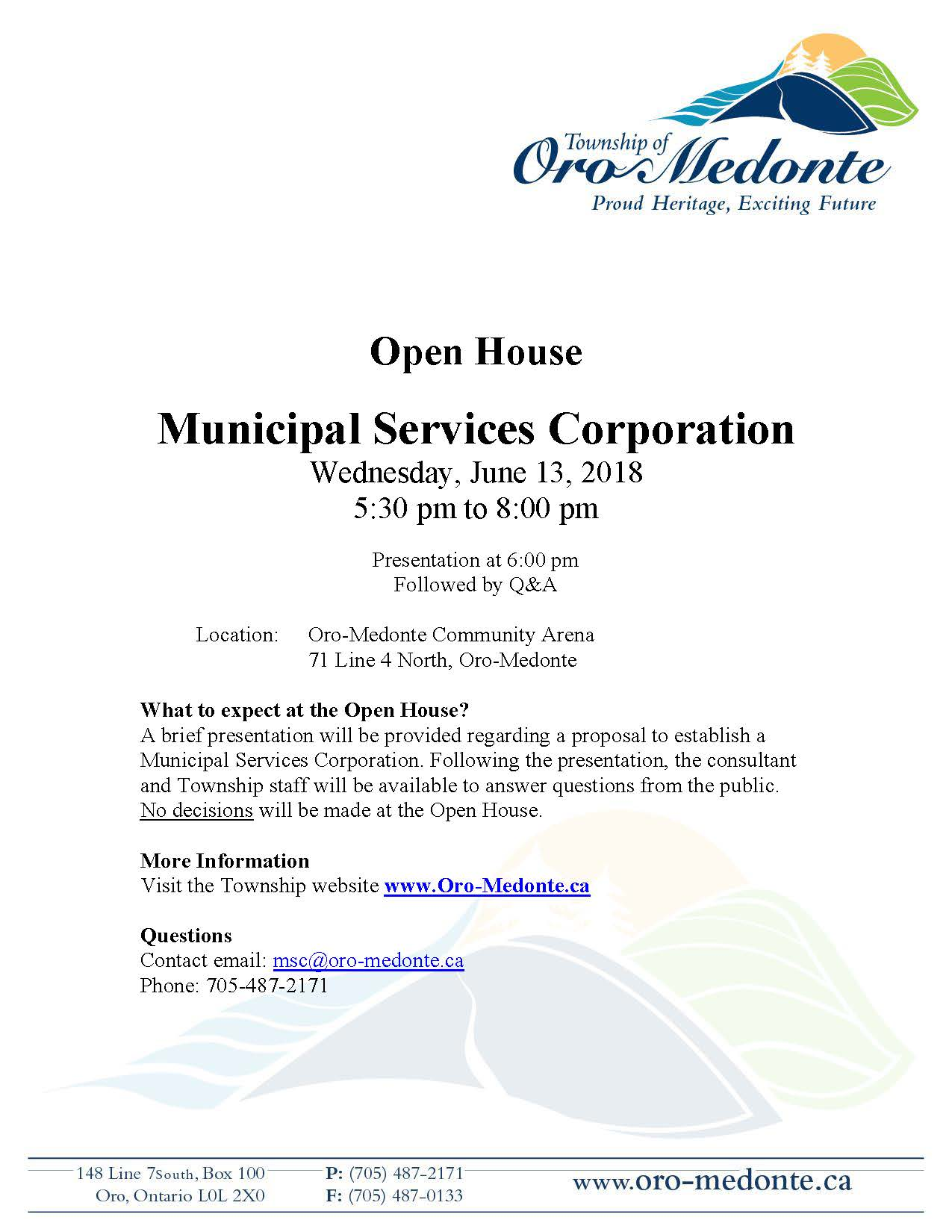 Open House Notice