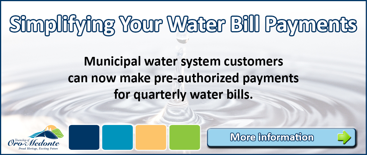Water Pre-Authorized Payments Website Scrolling Image